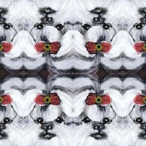 SHIH TZU HOLIDAY BOW