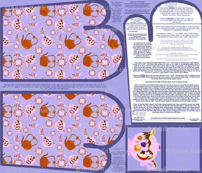 Tea Time Oven Mitts Fabric Pattern Fat Quarter With Piece Pattern by Kristie Hubler with ornament pattern