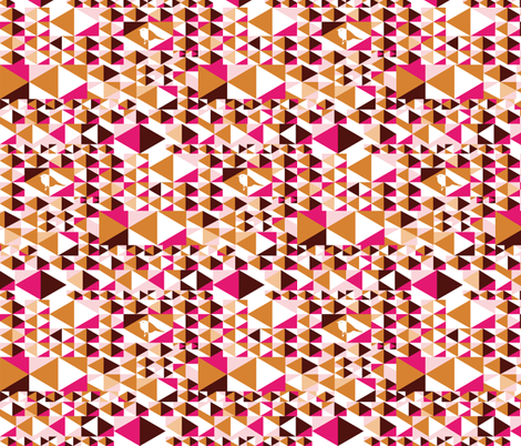 Point out my song (pink, brown, white) fabric by verycherry on Spoonflower - custom fabric