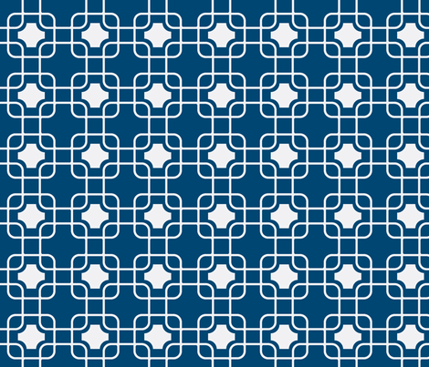 hollywood trellis navy fabric by ninaribena on Spoonflower - custom fabric
