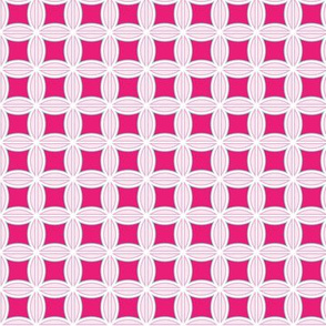 Abstract Flowers in Bright Pink