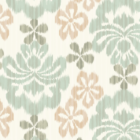 La Sarasa - mint and pink -  fabric by frumafar on Spoonflower - custom fabric