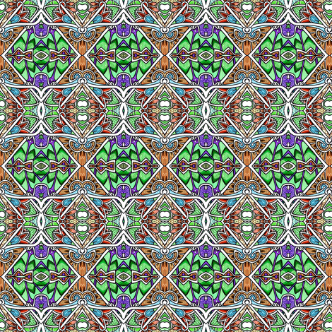 Crafty Old Argyle Checkerboard Horizontal Stripe Chain Link Fence fabric by edsel2084 on Spoonflower - custom fabric