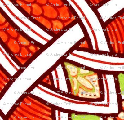 Red Celtic Weave