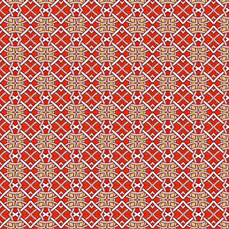 Red Celtic Weave fabric by edsel2084 on Spoonflower - custom fabric