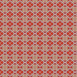 Red Celtic Weave