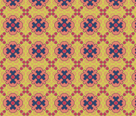 floral_matisse fabric by mammajamma on Spoonflower - custom fabric