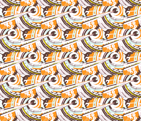 Lightning in Abstract Orange fabric by bettinablue_designs on Spoonflower - custom fabric