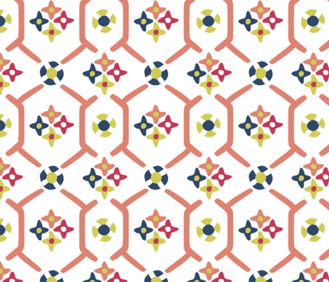 after_Matisse_floral_garden white fabric by glimmericks on Spoonflower - custom fabric
