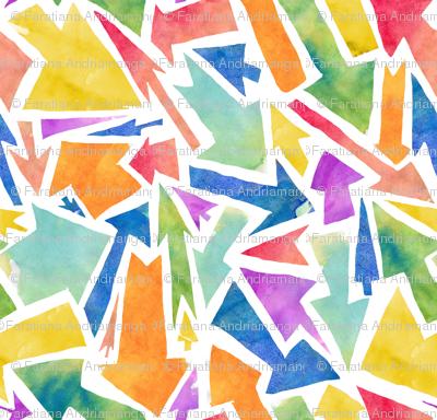 Rainbow colored arrows
