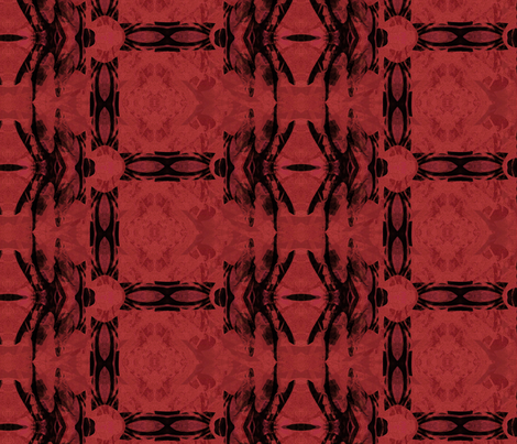 Dragonfly Red Plaid