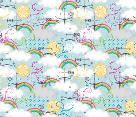 Any Way the Wind Blows fabric by inscribed_here on Spoonflower - custom fabric