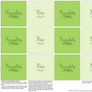 Naughty &amp; Nice Cocktail Napkins (Green)