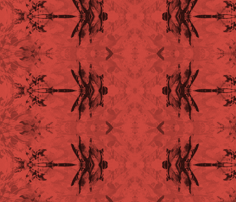 Dragonfly Rouge Rows fabric by wren_leyland on Spoonflower - custom fabric