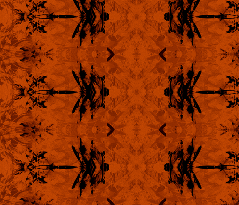 Dragonfly Pumpkin  fabric by wren_leyland on Spoonflower - custom fabric