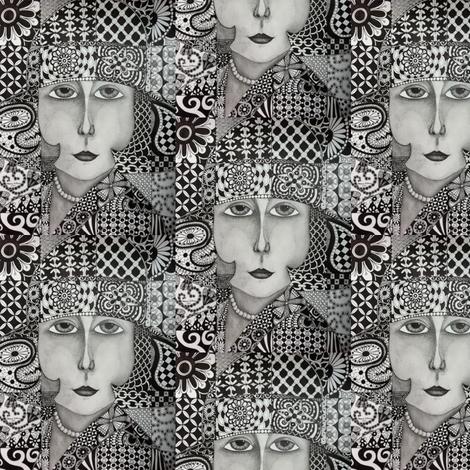 Hat Lady fabric by daisydolls on Spoonflower - custom fabric
