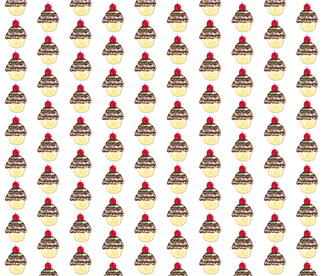 Cupcake Love-ch-ch-ch fabric by karenharveycox on Spoonflower - custom fabric
