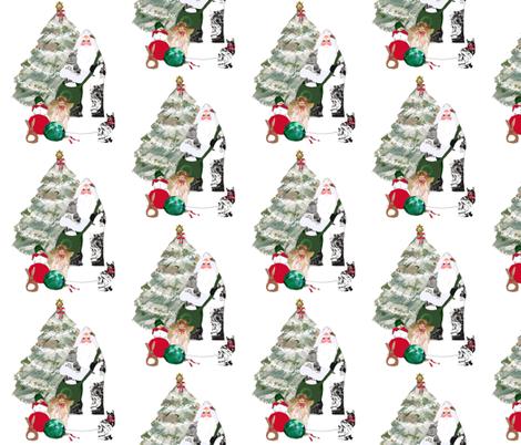 Father_Christmas_fabric_two fabric by karenharveycox on Spoonflower - custom fabric
