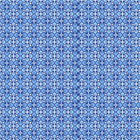 Snowflake fabric by holladay on Spoonflower - custom fabric