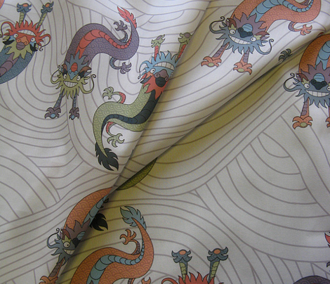 Chinese Dragons on White