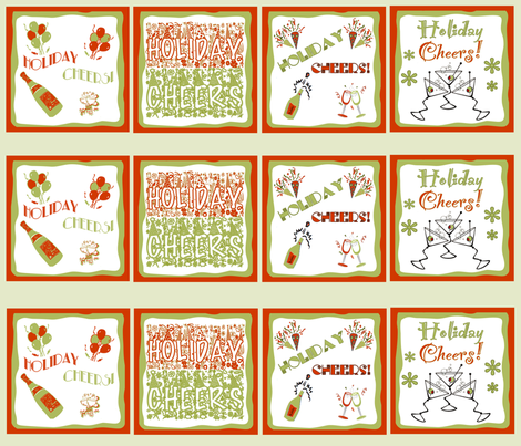 HOLIDAY CHEERS! Napkin Set fabric by tulsa_gal on Spoonflower - custom fabric