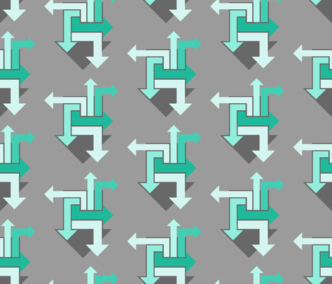 Me & My Arrows fabric by ilikemeat on Spoonflower - custom fabric