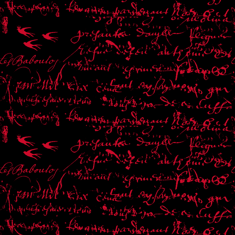 French Script Bold. Rosy Red-ch-ch