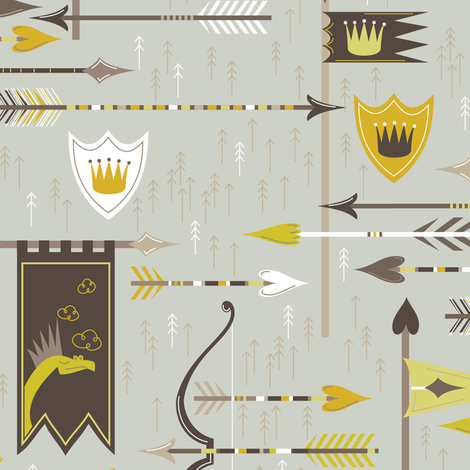 The Dragon's Court fabric by kayajoy on Spoonflower - custom fabric