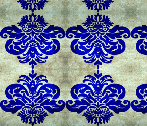 damask navy fabric by nascustomwallcoverings on Spoonflower - custom fabric
