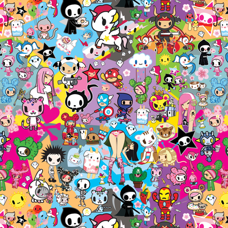 Tokidoki fabric by emma_joy_joy on Spoonflower - custom fabric