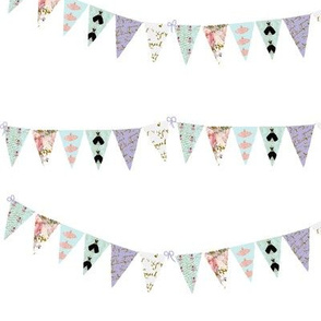 French Script Bunting Large