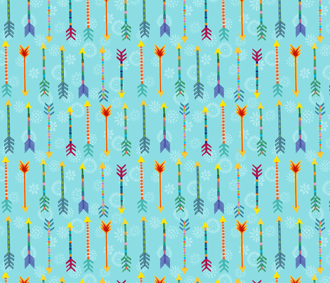 arrows and flower targets fabric by jeannemcgee on Spoonflower - custom fabric