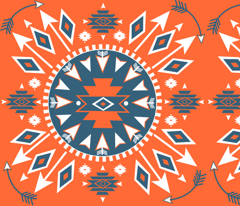 Navajo Arrows fabric by fable_design on Spoonflower - custom fabric