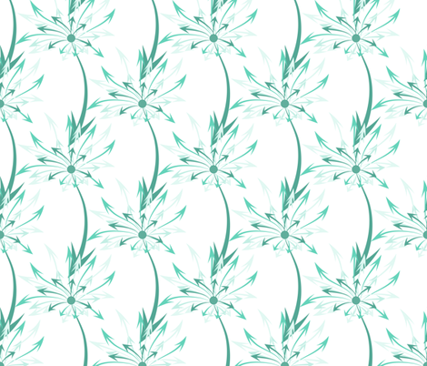 Dandelion Arrows fabric by ilikemeat on Spoonflower - custom fabric