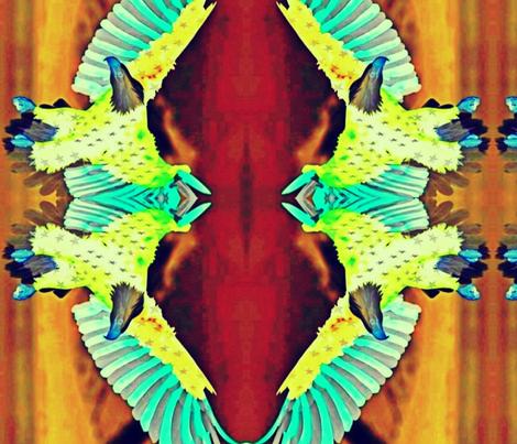 FREEDOM EAGLE spring fabric by dibbdibb on Spoonflower - custom fabric