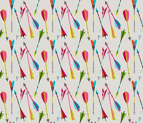 Head over heels for arrows fabric by coty on Spoonflower - custom fabric