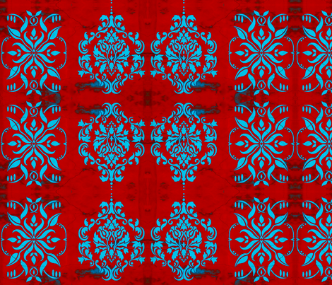 DBL Damask red  fabric by nascustomwallcoverings on Spoonflower - custom fabric