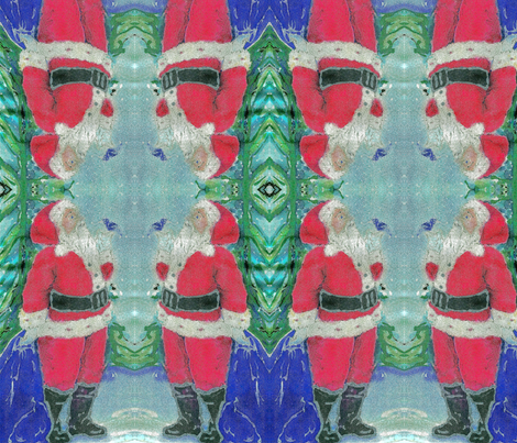 Santa Gram - a little bird told me. fabric by walkwithmagistudio on Spoonflower - custom fabric