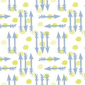 Dotty Arrows 452(key lime, deep sky &amp; white)