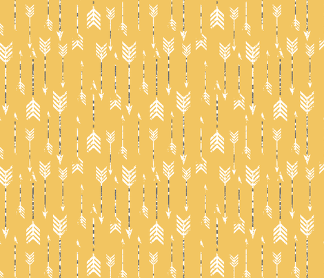Yellow Arrows fabric by luckyapple on Spoonflower - custom fabric