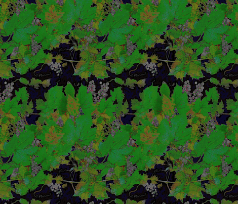 Grapes in Midnight Blue fabric by wren_leyland on Spoonflower - custom fabric