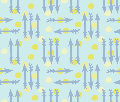 Dotty Arrows 452(lt. aqua, key lime & deep sky) fabric by pattyryboltdesigns on Spoonflower - custom fabric