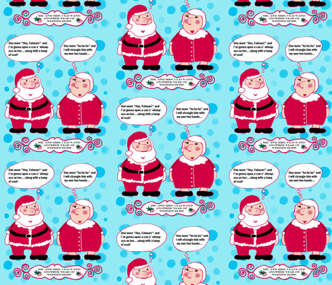 Love and Happiness in the North Pole fabric by amy_g on Spoonflower - custom fabric
