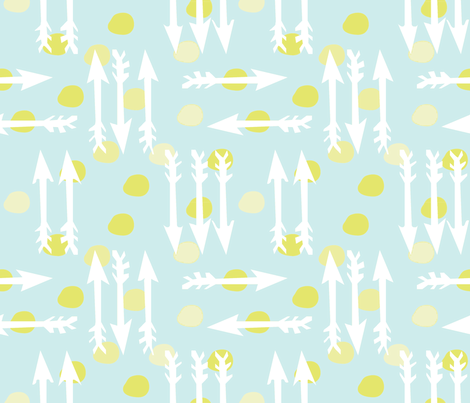Dotty Arrows 452(lt. aqua, key lime & white) fabric by pattyryboltdesigns on Spoonflower - custom fabric