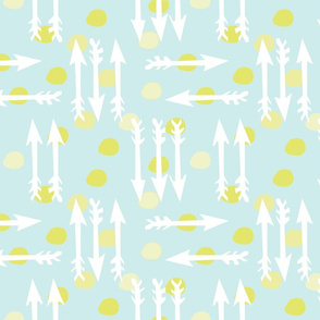 Dotty Arrows 452(lt. aqua, key lime &amp; white)