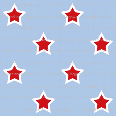 Superhero Stars On Light Blue