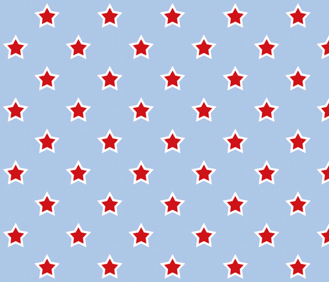 Superhero Stars On Light Blue fabric by arttreedesigns on Spoonflower - custom fabric