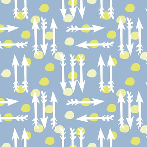 Dotty Arrows 452-flip (deep sky, key lime &amp; white)