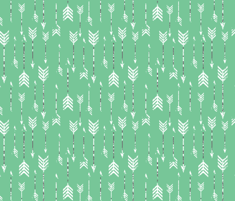 GreenArrows fabric by luckyapple on Spoonflower - custom fabric
