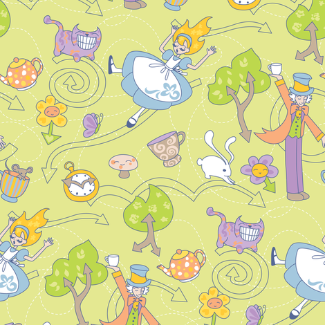 Directions To The Party fabric by jillianmorris on Spoonflower - custom fabric